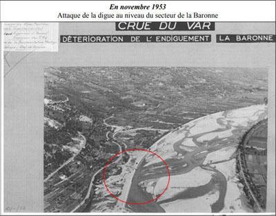 11/1953: Crue du var secteur La Baronne La Gaude