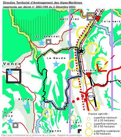 2003-12: carte-DTA -20130621-PLU-La Gaude-1-RP-présentation