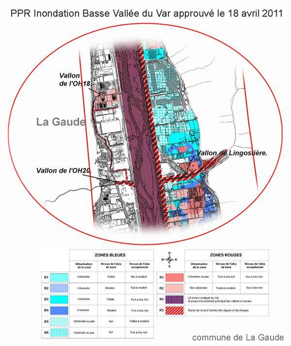 2011-04: carte-PPRI-BVV: secteur La Baronne-La Gaude -Plaine du Var-AM06