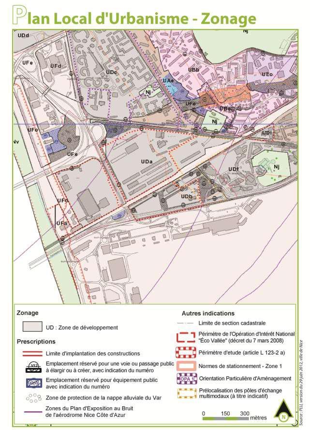 2011-04: Zonage PLU Nice -secteur Grand Arénas