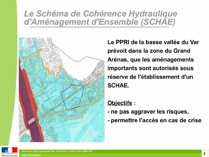 2012-09: Le Schéma de Cohérence Hydraulique d'Aménagement d'Ensemble SCHAE - PPRI de la basse vallée du Var -zone Grand Arénas-CDRNM-DDTM06