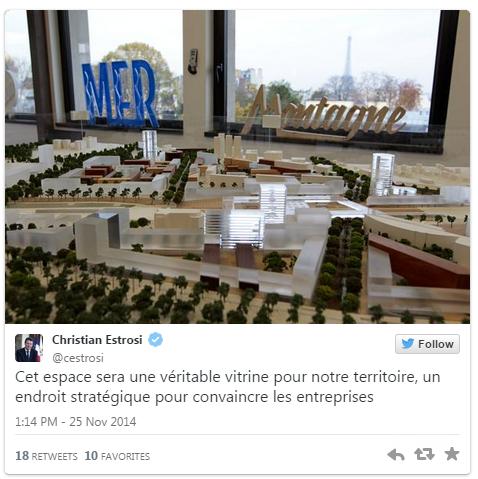"""twitter@cestrosi 25 novembre 2014: Eco-Vallee OIN Plaine du Var """"véritable vitrine, un endroit stratégique pour les entreprises"""""""