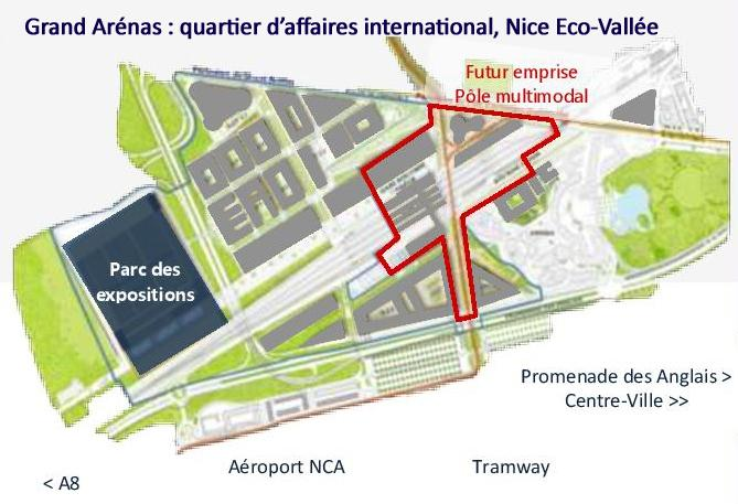 Périmètre: Grand Arénas-PEM-PEX-Nice Eco-Vallée ©201802EPA/Mateo Architectura