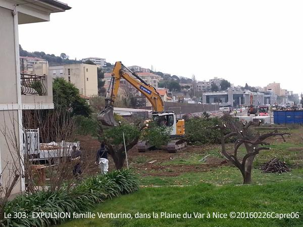 Le 303: EXPULSION famille Venturino Plaine du Var, Nice ©20160226Capre06
