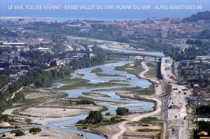 Le Var, fleuve vivant - Basse vallée du Var - Plaine du Var, Alpes-Maritimes 06