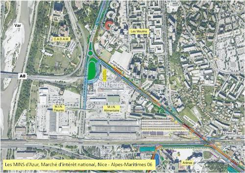 Localisation: Les MINS d'Azur -Marché d'Intérêt National - Nice - Alpes-Maritimes 06 -2014