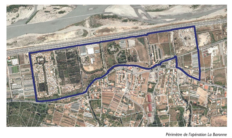 Périmètre: secteur La Baronne, La Gaude -2014 EPA Eco-Vallee