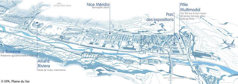 Vue générale du projet Eco-Vallée Nice Saint-Isidore ©EPA20120720